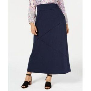 Style & Co Industrial Blue Global Escape Skirt 0X